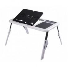 Подставка-столик для ноутбука с двумя USB вентиляторами E-Table с охлаждением