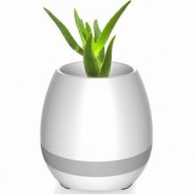 Портативный умный цветочный горшок-колонка Smart Music Flowerpot с музыкой Белый