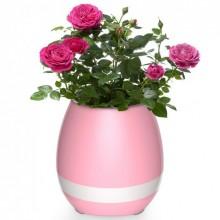Портативный умный цветочный горшок-колонка Smart Music Flowerpot с музыкой Розовый