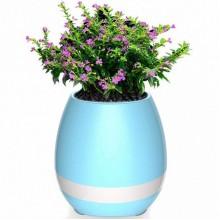 Портативный умный цветочный горшок-колонка Smart Music Flowerpot с музыкой Голубой