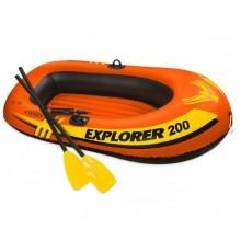Двухместная надувная лодка INTEX Explorer 58331 Set 200, 185 х 94 х 41 см, с веслами и насосом (Расширенная комплектация)