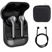 Беспроводные сенсорные Bluetooth 5.0+EDR наушники VAR 9F TWS 2020 Grey with Charging Case с защитным чехлом и аксессуарами